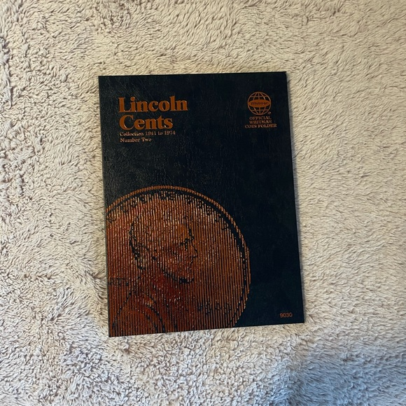 Lincoln cents empty collectors folder